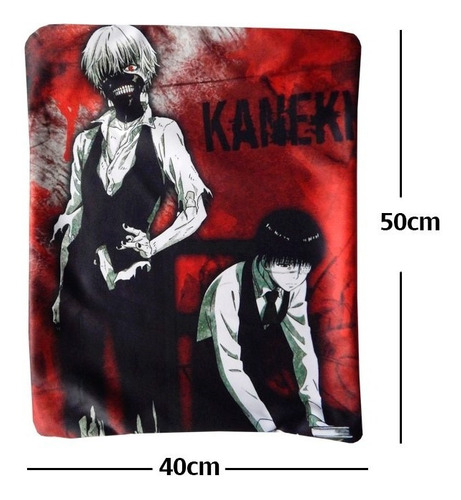 tokyo ghoul soul ken kaneki con parche funda de almohada