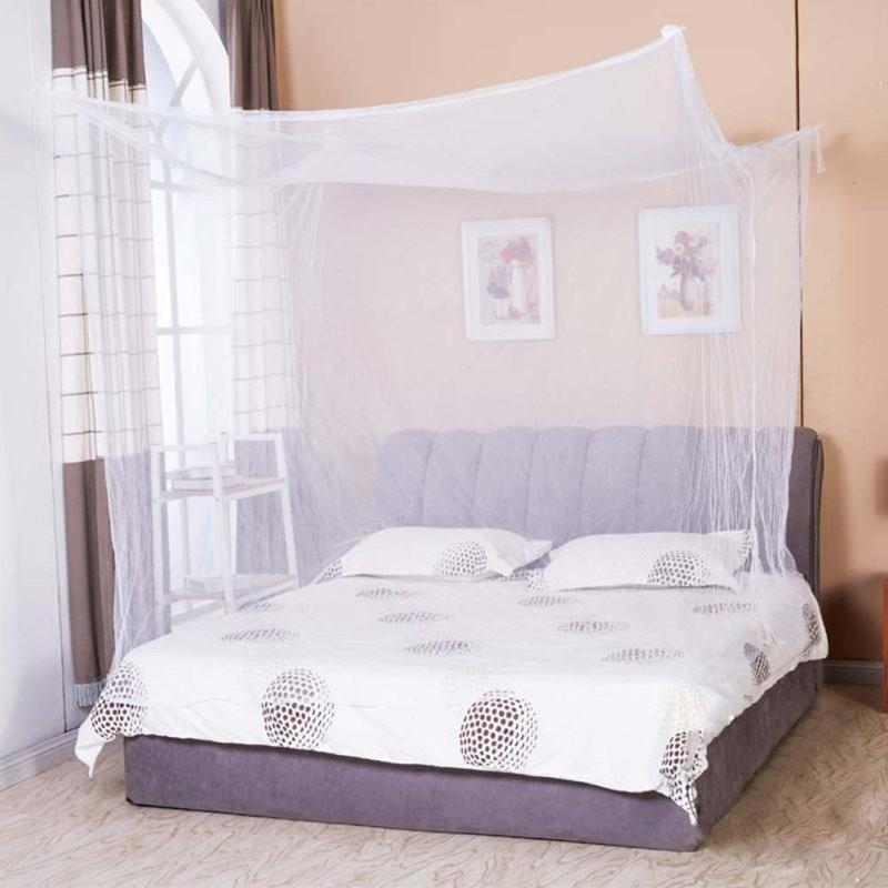 Toldillo mosquitero cuadrado para cama doble en for Mosquiteras para camas