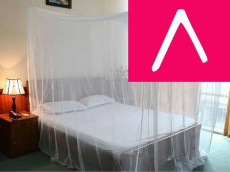toldillo para cama queen - mosquitero cuadrado de lujo