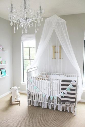 toldillo para cunas de bebés- mosquitero redondo de lujo