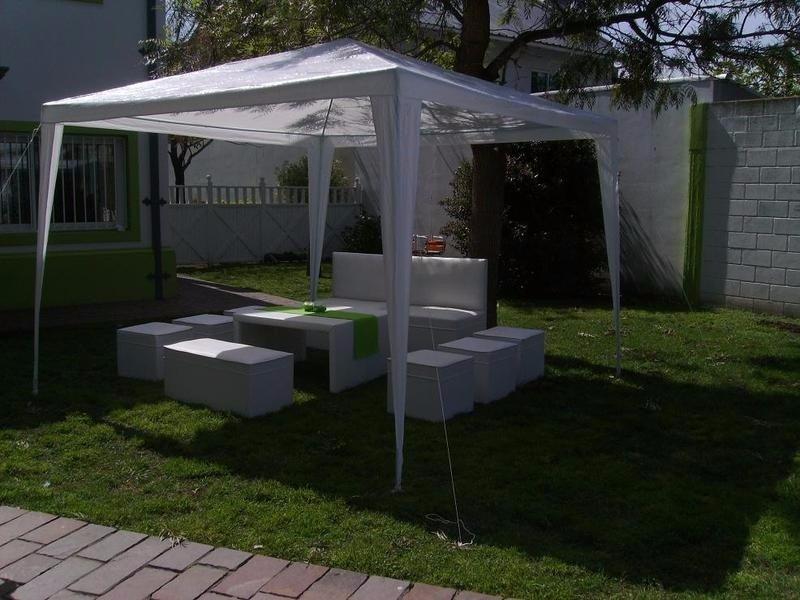 Toldo 3x3 mts carpa para tus eventos fiestas expos e t c for Carpas para jardin