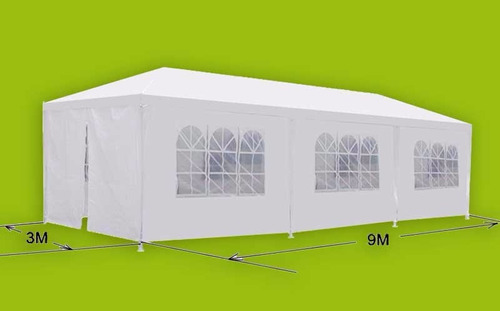 toldo 3x9 armable impermeable c/paredes/ventana/puerta