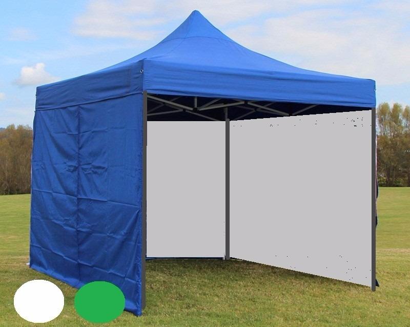 Toldo azul 3x3 cerrado 3 lados paredes cortinas gruesa for Repuestos para toldos de lona