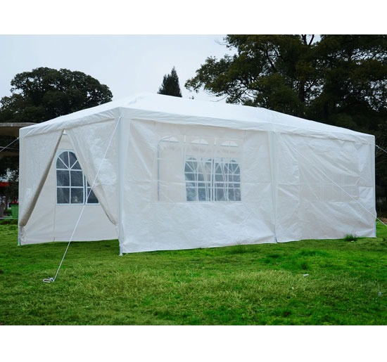 Toldo blanco 6 x 3 metros carpa para eventos en jardines for Carpas para jardin
