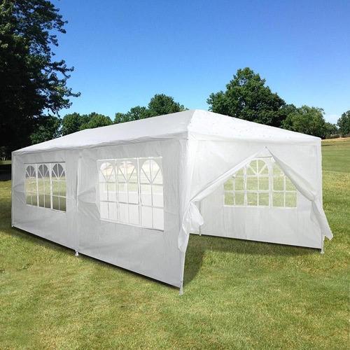 toldo carpa 6 x 3m con paredes y ventanas para fiesta jardin
