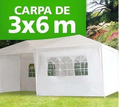 Toldo carpa 6 x 3m con paredes y ventanas para fiesta for Armado de jardines