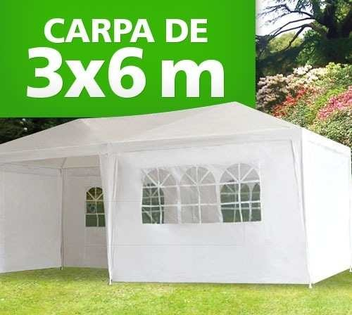 Toldo Carpa 6x3 Mts C/cortinas Impermeable Entrega