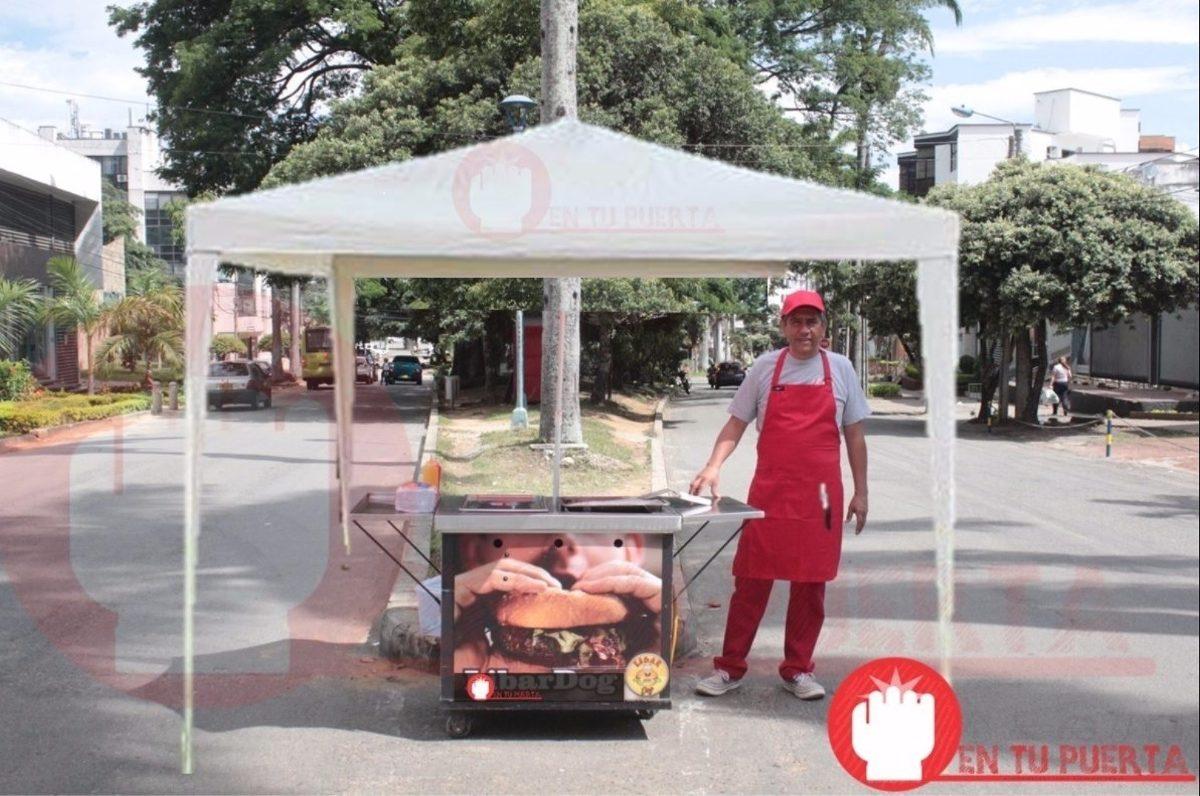 Toldo carpa negocio comidas r pidas ambulante sombrilla for Carpa comida