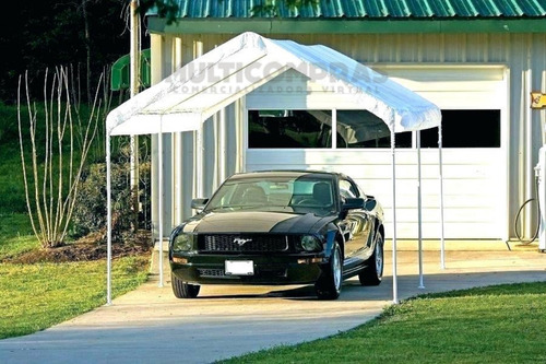 toldo carpa tipo garaje para vehiculo 300 x 600 x 276 cms