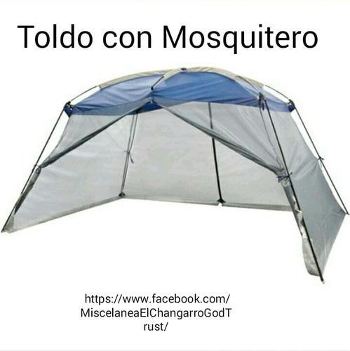 toldo con mosquitero.