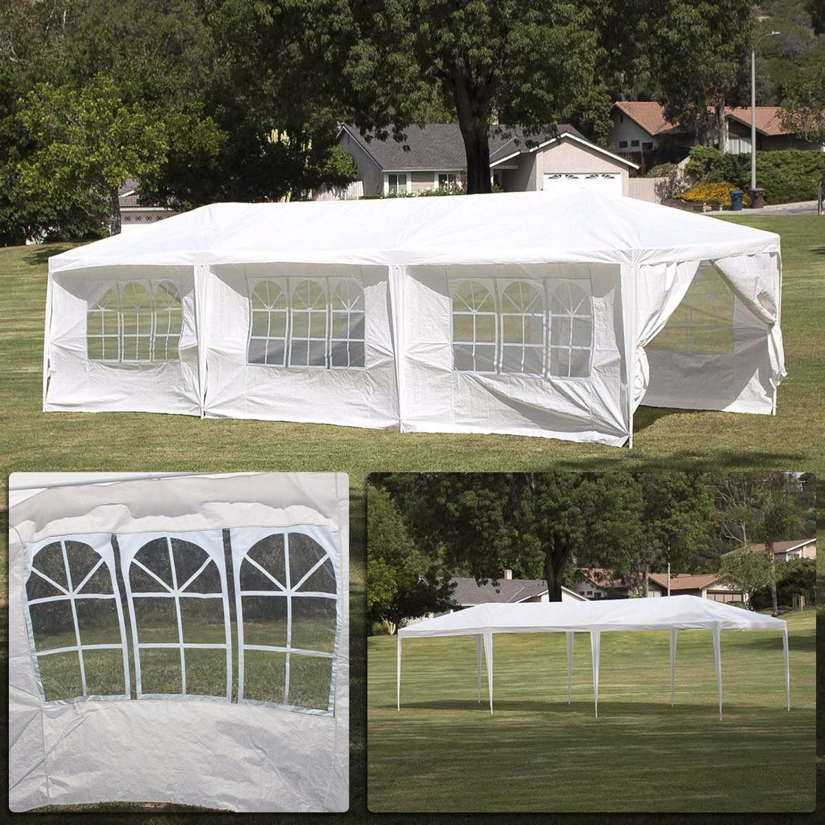 Toldo fiestas bodas carpa 8 paredes ventanas 3 x 9 mts for Gazebo plegable easy