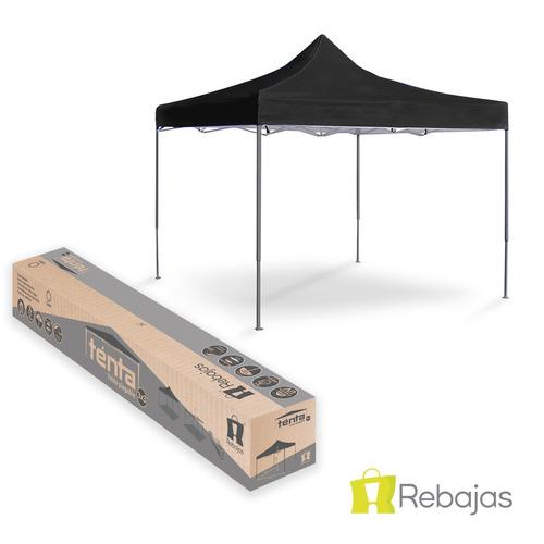 toldo negro plagable 3x3 metálico stand fácil armar r4716