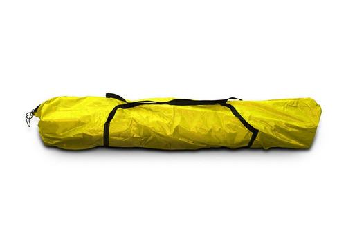 toldo plegable carpa 3x3 mts acero lona impermeable + maleta