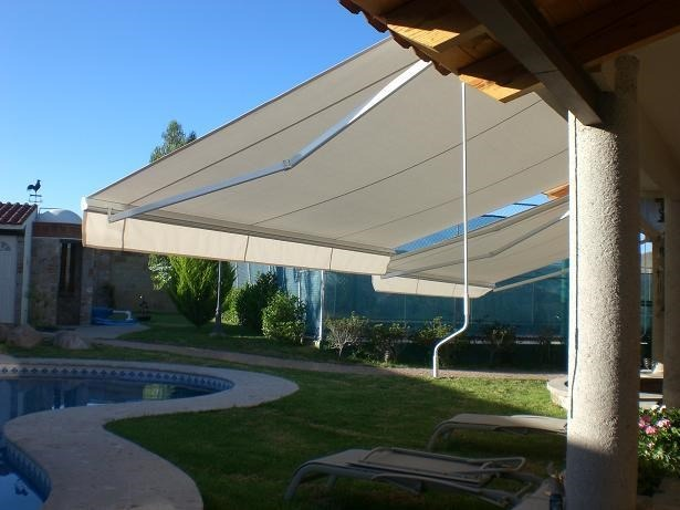 Toldo plegable de pared 4x3 mts techo corredizo oferta for Oferta toldos retractiles
