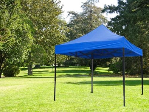 toldo plegable super resistente impermeable azul 3x3 metros