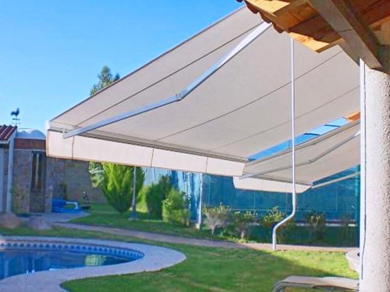 Toldo retractil 4x3 estructura acero color blanco env dhl 5 en mercado libre - Toldos colores ...