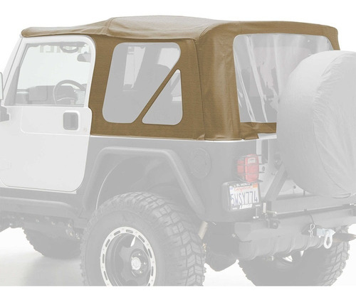 toldo suave para jeep wrangler tj smittybilt 3 ventanas