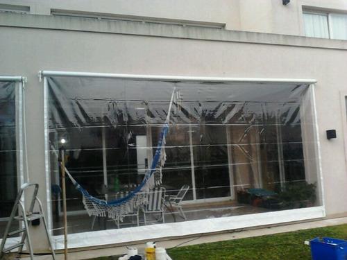toldo vertical enrollable de lona cristal somos fabricantes