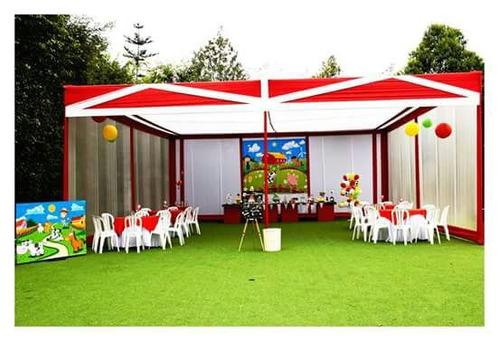 toldos, buffets, decoraciones, show infantil,sillas y mesas.