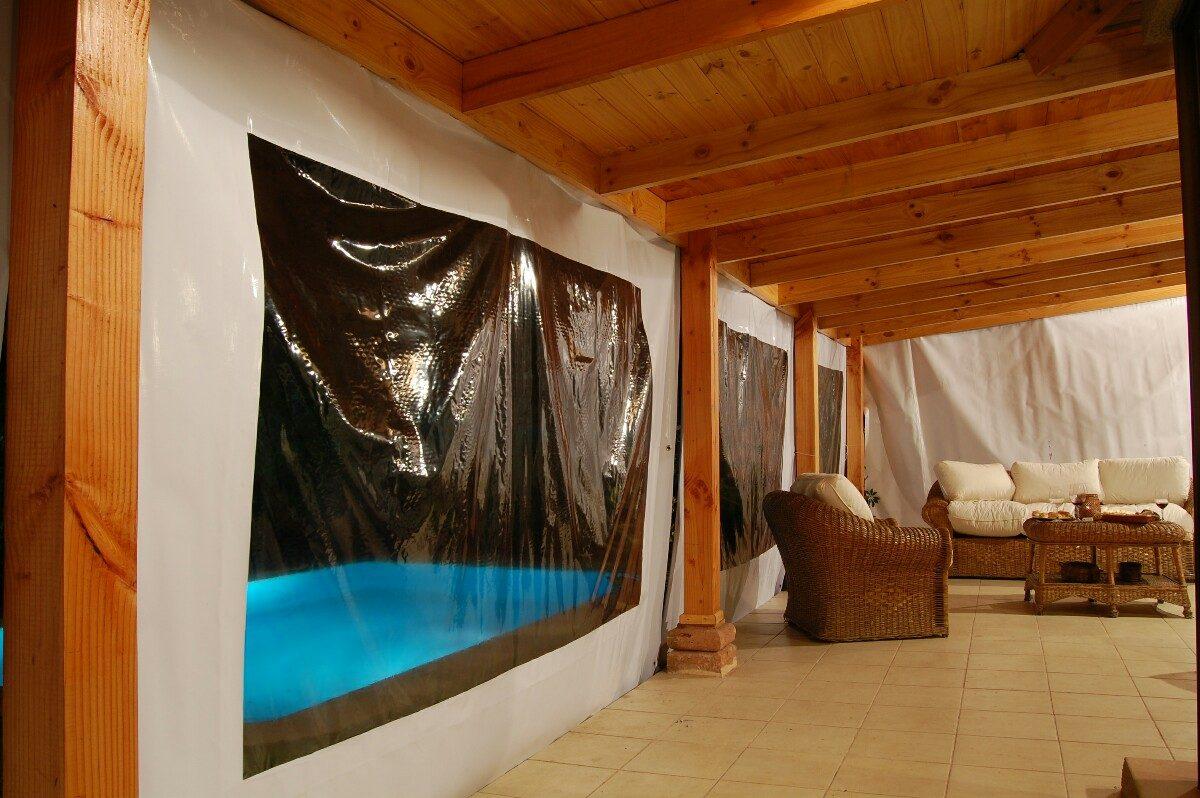 Toldos cortinas panoramicas terraza quinchos en for Cortinas para terrazas acristaladas