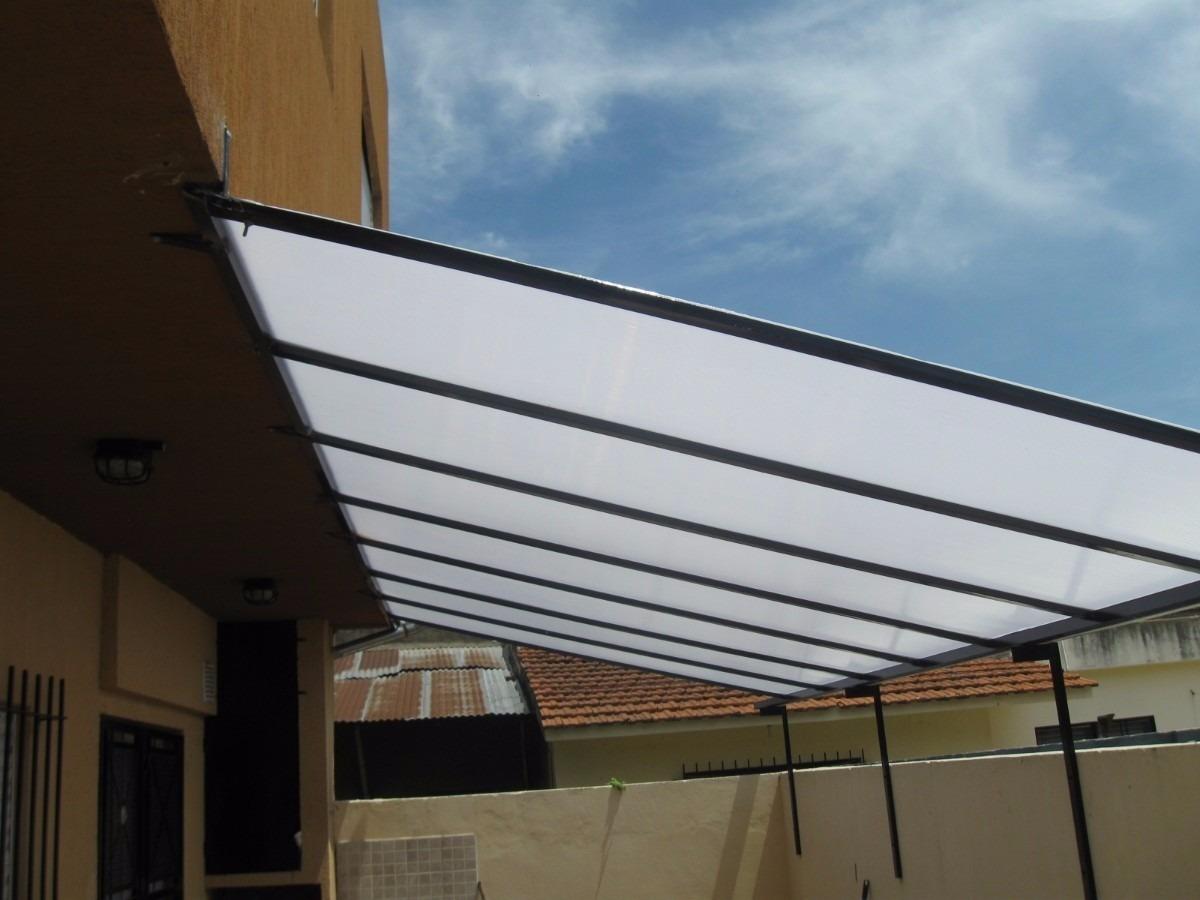 Toldos de aluminio y techos de policarbonato en mercado for Materiales para toldos de aluminio