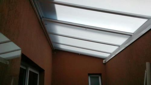 toldos telhados de ferro e policabonato fixa retratil em sp