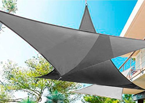 toldos vela para sombra desmontables triangulo 3x4 malla