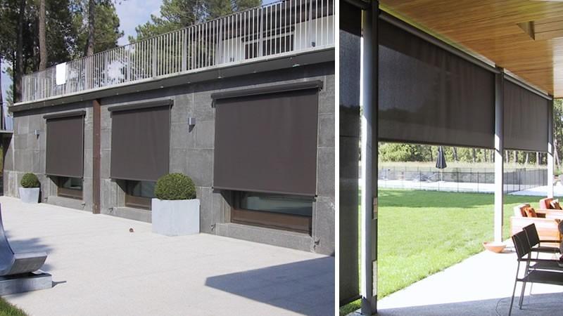 Toldos verticales y toldos de brazos extendibles 45 for Guias para toldos verticales