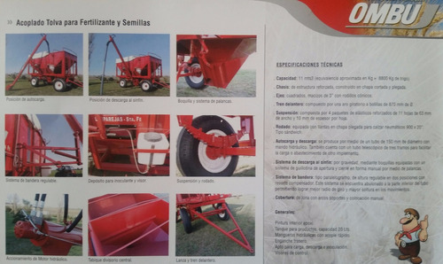 tolva para fertilizante y semilla auto descargable