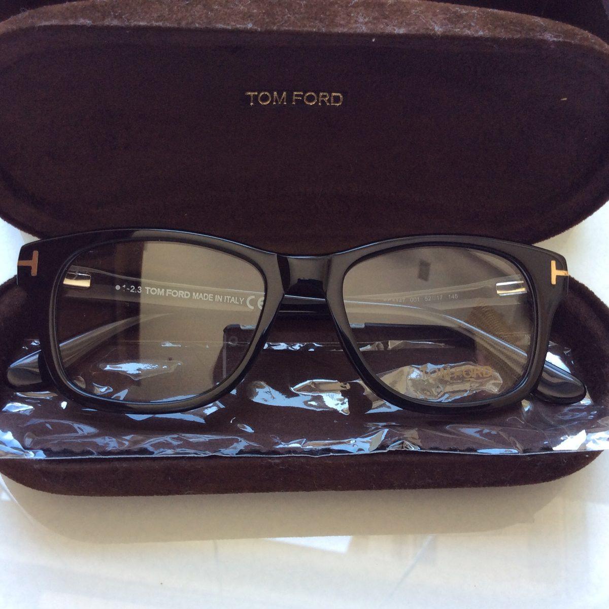 6319aca35e9e7 Tom Ford Armação Óculos Preta