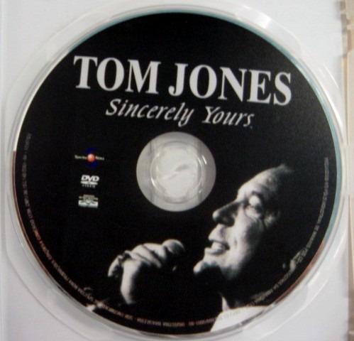 tom jones - sincerely yours / dvd / frete à cobrar