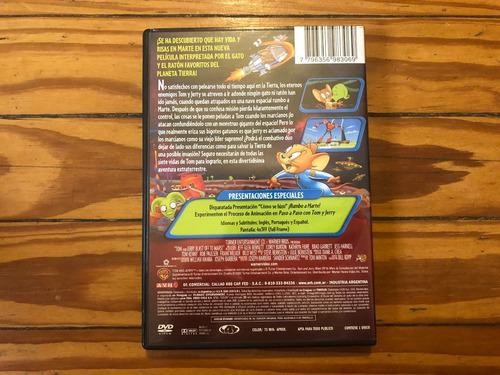 tom y jerry rumbo a marte película dvd original oferta 3x2