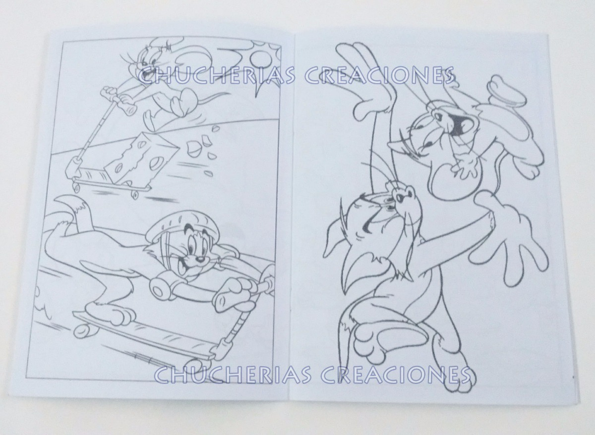 Tom Y Jerry X30 Cuadernos Para Colorear O Anotadores 15x21cm - $ 529 ...