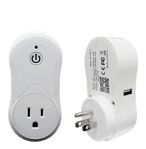 toma corriente inteligente wifi con cargador usb