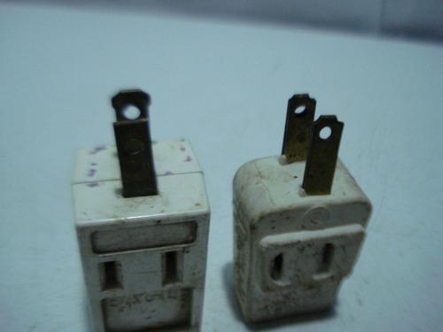 toma corriente multiple  plastico 3 tomas(combo 2 pzas usado