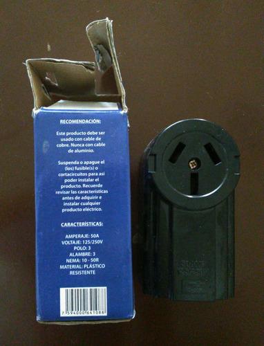 toma corriente superficial recetaculo de 50 amp a 250v
