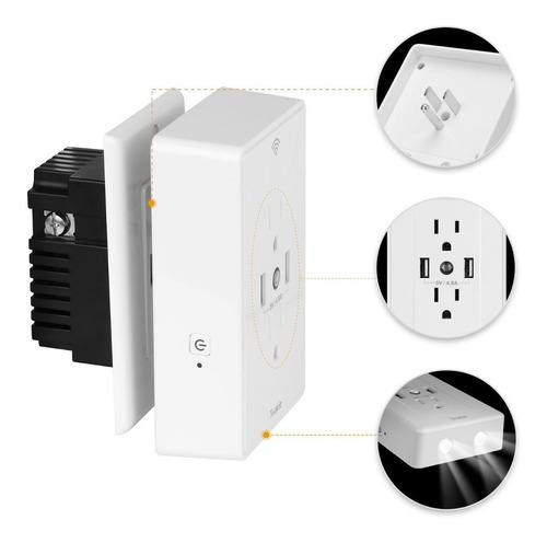 toma corriente wifi inteligente alexa google home usb luz