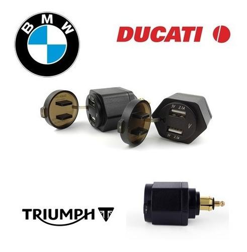 toma hella europea bmw f800 f650 r1200 2 usb + voltimetro
