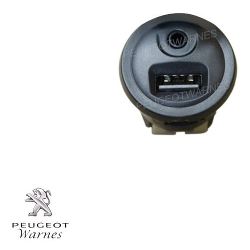 toma usb y audio 3.5mm auxiliar 100% original peugeot 2008