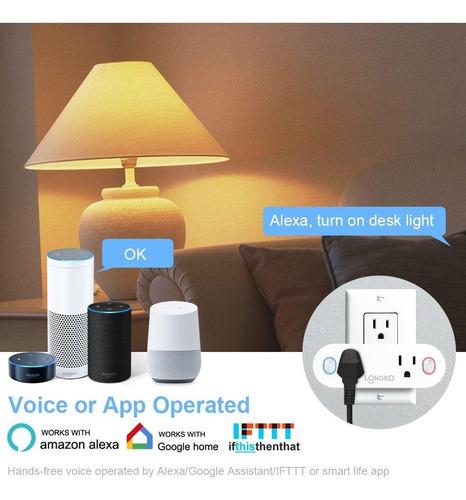 toma wifi inteligente inalámbrica alexa google home app celu