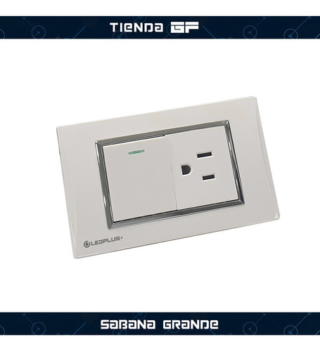 tomacorriente + interruptor blanco línea thunder ledplus