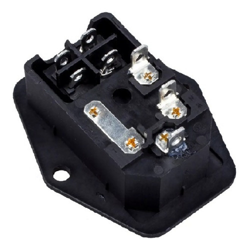 tomada ac painel 10a macho porta fusível tripola interruptor