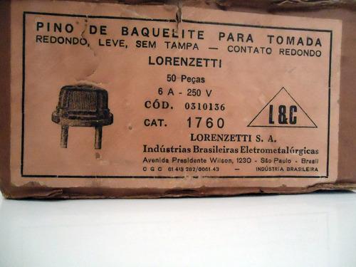 tomada de baquelite lorenzetti antiga (sem uso na caixa)