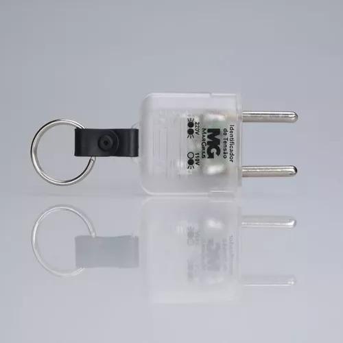 tomada teste de voltagem com/ chaveiro 127v / 220v