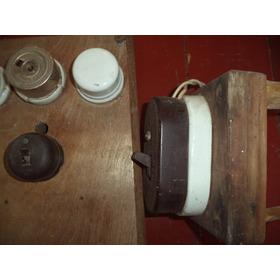 Tomadas/painel/chaves Elétricas Antigas/porcelana