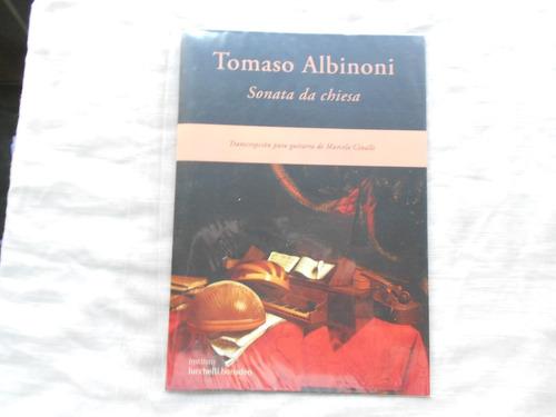 tomaso albinoni / sonata da chiesa/ guitarra/ contiene cd