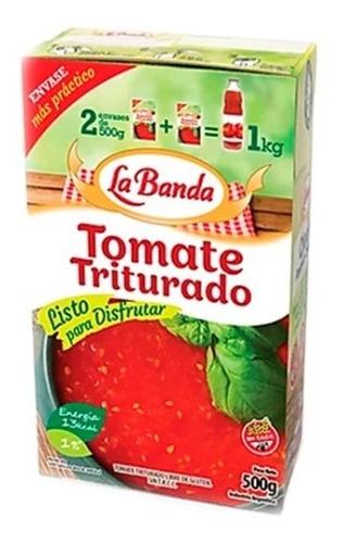 tomate triturados en lata 8 kgs  la banda la natural