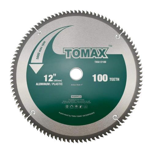 tomax 12-pulgadas 100 diente tcg aluminio y hoja de sierra m