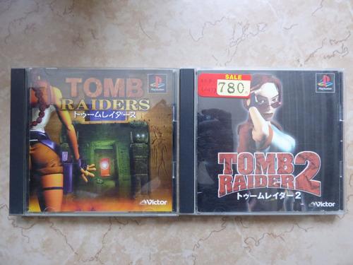 tomb raider 1 y 2 playstation 1 ps1 japon