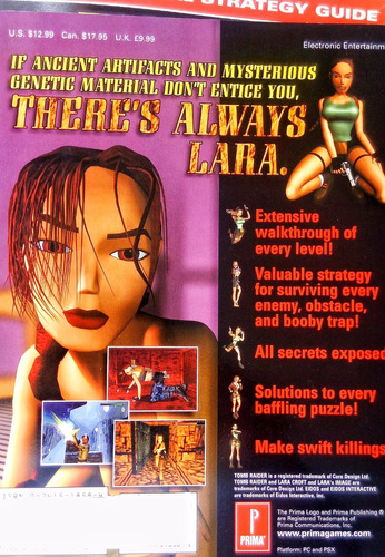 tomb raider 3 prima´s official strategy guide